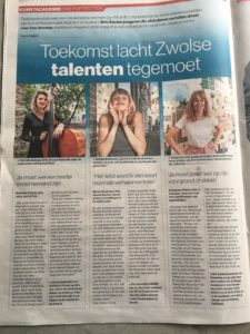 Nathalie Schaap interview in de Stentor 12-06-2018